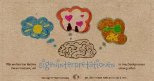 """""""Wir wollen das Gehirn daran hindern, mit Eigeninterpretationen in den Denkprozess einzugreifen."""""""
