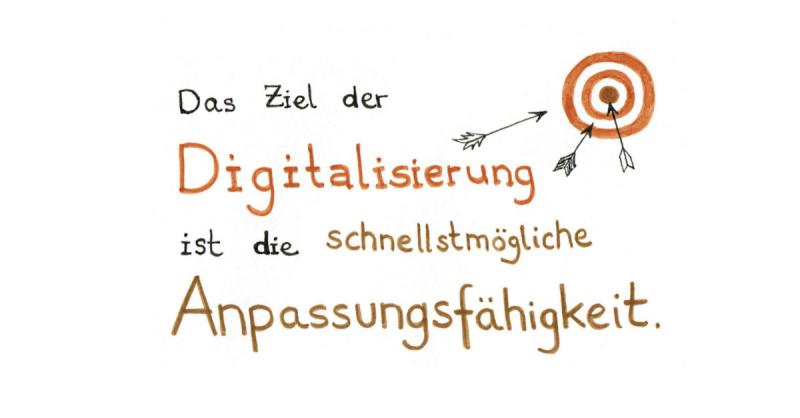Das Ziel der Digitalisierung ist die schnellstmögliche Anpassungsfähigkeit.
