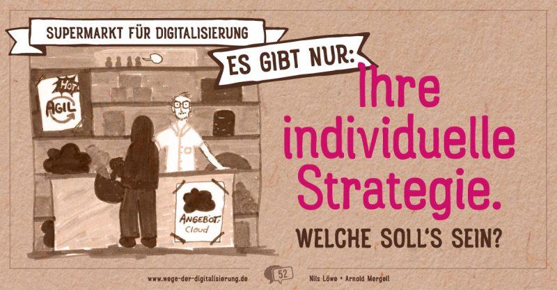 Supermarkt für Digitalisierung: Es gibt nur Ihre individuelle Strategie. - Welche soll's sein?